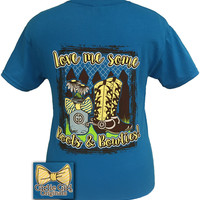 Girlie Girl Originals Love me Some Boots & Bowties Country Boots Girl Bright T Shirt