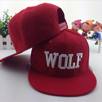 Fad WOLF EXO first year Embroidered Adjustable Snapback Hat LUHAN KRIS POP