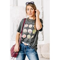 Succulents Oversized Graphic Tee