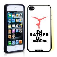 SudysAccessories I'd Rather Be Tumbling Gymnastics Thinshell Case Protective iPhone 5 Case iPhone 5S Case