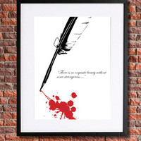"""Edgar Allan Poe Poster Art 