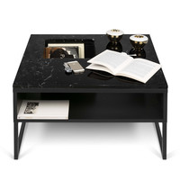 Sigma Coffee Table Black Marble / Black