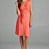 Work or Play Dress - Coral