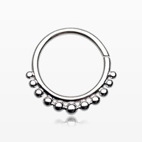 Athena Spherule Septum Twist Loop Ring