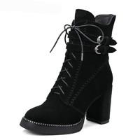Boots | Women's Leather Suede Boots