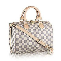 Authentic Louis Vuitton Speedy Bandouli¡§¡§re 25 Cross Body Leather Handles Bag Article: