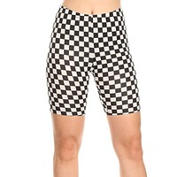 Ch-Ch-Checkered Biker Shorts