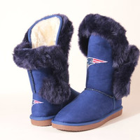"""New England Patriots Women's Cuce Official NFL """"Champions"""" Boots"""
