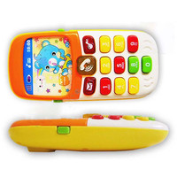 Electronic Toy Phone Musical Mini Cute Children Phone Toy Early Education Cartoon Mobile Phone Telephone Cellphone Baby Toys