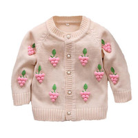 Spring Autumn Children's Clothes Baby Long-Sleeved Cotton Girl Cardigan Sweaters Kids Sweatercoat