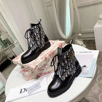 Dior  Women Casual Shoes Boots popularable casual leather Women Heels Sandal Shoes