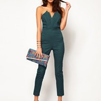 ASOS Jumpsuit With Pleat Bust Origami Detail at asos.com