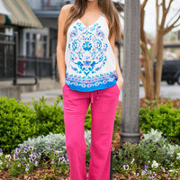 Love And Relaxation Pants, Fuchsia