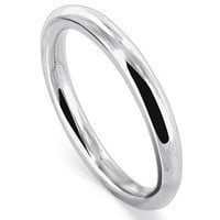 Gem Avenue 925 Sterling Silver 1.5mm Wedding Band