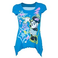 Minnie Mouse - Electro Minnie Girls Youth Tunic T-Shirt