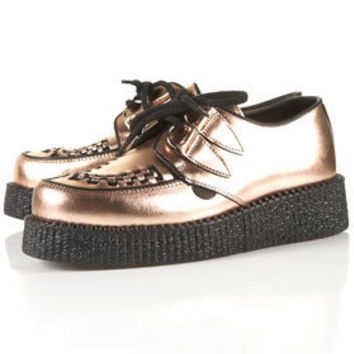 Underground Round Toe Creepers - Flats  - Shoes