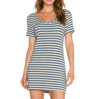 Hye Park and Lune Capella Mini Dress in Heather Grey & Navy