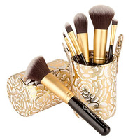 Soobest Cosmetics Kabuki Makeup Brush Set with Cup Holder