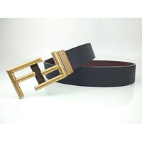 FENDI's new unisex double F gold buckle belt