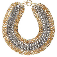 River Island Womens Gold and silver tone chunky chain necklace