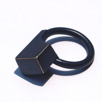 Silver and Sulfuric Acid Block Ring