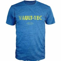 Fallout Vault Tec Men's Blue Heather T-Shirt