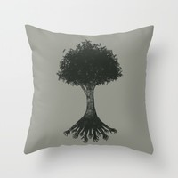 The Root Throw Pillow by MidnightCoffee