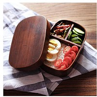 Japanese bento boxes wood handmade natural wooden sushi box tableware bowl Food Container