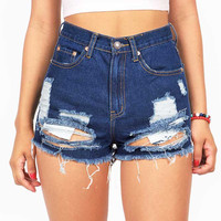 Wasted Away High Waist Shorts