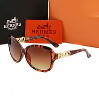 Hermes Hot Selling Trend Fashion Ladies Sunglasses Sunglasses Sunglasses Beach UV Protection Glasses Driving Polarized Glasses