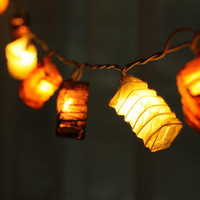 20 x classic brown japanese asia paper string light patio decoration deco room wedding patio party oriental paper