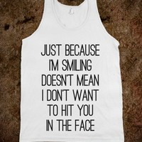 Smiles and Punches-Unisex White Tank