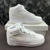 Morechoice Tuhz Nike Air Force 1 Mid Sneakers Velcro Casual Skaet Shoes Ao2133-101