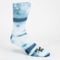 Nike Sb Tie Dye Mens Dri-Fit Crew Socks Blue Combo One Size For Men 24911424901