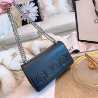 Gucci Leather Black Shoulder Bag #1488