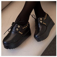 women autumn leather boots women sneakers Platform Women flats shoes wedge high heels ankle boots
