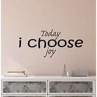 Vinyl Wall Decal Stickers Motivation Quote Words Today I Choose Joy Inspiring Letters 3849ig (22.5 in x 10 in)