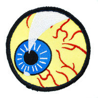 Evil Eye Ball Iron-On Patch.