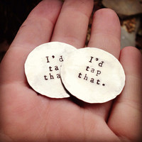 "personizable hand stamped golf ball marker ""you kick putt""n"