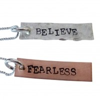 Hand Stamped Inspirational Necklace