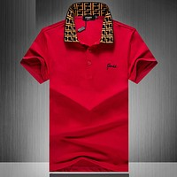Fendi Casual Simple Men Short Sleeve  Shirt Top Tee
