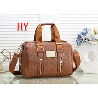 """Louis Vutitton LV"" Simple Fashion Logo Print Backpack Large Capacity Multicolor Single Shoulder Messenger Bag Handbag"