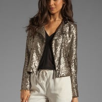 Lovers + Friends Wish Jacket in Bronze Sequin from REVOLVEclothing.com