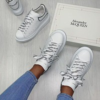 Alexander Mcqueen Casual Little White Shoes-31