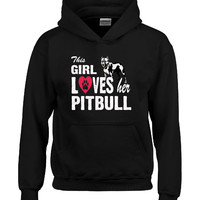 This girl loves her pitbull pitty fur babies Dog - Hoodie
