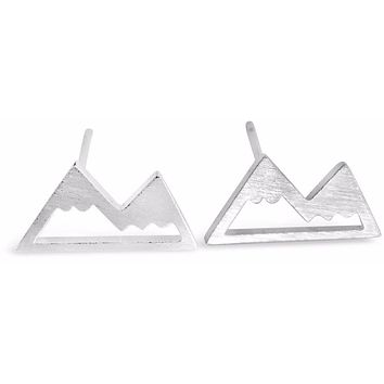 Collection of Snow Capped Mountain Top Earrings