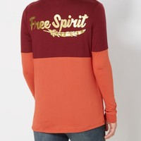 Free Spirit Brushed Drop Yoke Top | Graphic Long Sleeve Tees | rue21