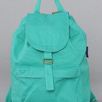 The Baggu Canvas Backpack in Mint