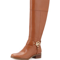 Fulton Harness Leather Riding Boot, Luggage - MICHAEL Michael Kors
