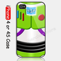 New Design Buzzlightyear Toy Story Custom iPhone 4 or 4S Case Cover